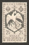 Stamps Europe - Central African Republic -  149 - Serie de Londres, Francia libre