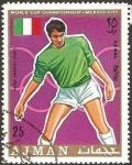 Stamps : Asia : United_Arab_Emirates :  ajman - mundial de fútbol en México, pietro anastasi (Italia)