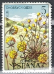 Stamps : Europe : Spain :  ESPANA 1974 (E2223) Flora - Anthyllis ericoides 5p 5 INTERCAMBIO