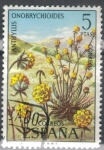 Stamps : Europe : Spain :  ESPANA 1974 (E2223) Flora - Anthyllis ericoides 5p 3 INTERCAMBIO
