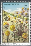 Stamps : Europe : Spain :  ESPANA 1974 (E2223) Flora - Anthyllis ericoides 5p 2