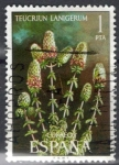 Stamps : Europe : Spain :  ESPANA 1974 (E2220) Flora - Teucrium lanigerum 1p 3 INTERCAMBIO