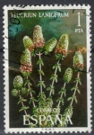 Stamps : Europe : Spain :  ESPANA 1974 (E2220) Flora - Teucrium lanigerum 1p 2