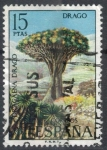Stamps : Europe : Spain :  ESPANA 1973 (E2124) Flora - Drago 15p 2