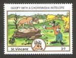 Sellos del Mundo : America : San_Vicente_y_las_Granadinas : Goofy jugando con un antilope