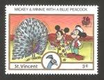 Sellos del Mundo : America : San_Vicente_y_las_Granadinas : Micky y Minnie con un pavo