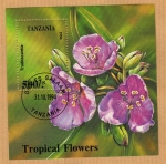 Stamps Tanzania -  Flores Tropicales