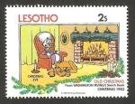 Stamps Africa - Lesotho -  Navidad, Disney