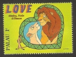 Stamps : Oceania : Palau :  simba, nala y timón
