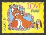 Stamps Oceania - Palau -  tod, vixey y copper