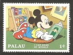 Stamps Oceania - Palau -  mickey leyendo