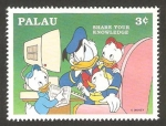 Sellos del Mundo : Oceania : Palau : donald y sus sobrinos