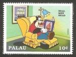 Stamps Oceania - Palau -  leyendo