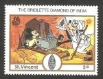 Sellos del Mundo : America : San_Vicente_y_las_Granadinas : diamante de la India, el briolette