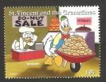 Sellos del Mundo : America : San_Vicente_y_las_Granadinas : donald vendedor en supermercado