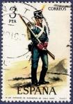Stamps Spain -  Edifil 2352 Zapador de ingenieros de gala 3