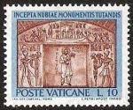 Stamps Europe - Vatican City -  INCEPTA NUBIAE MONUMENTIS TUTANDIS