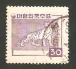 Stamps : Asia : South_Korea :  un tigre