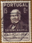 Sellos de Europa - Portugal -  Sir Rowland Hill