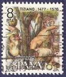 Sellos de Europa - España -  Edifil 2466 Tiziano 8 izquierda