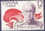 Stamps Spain -  Edifil 2490 Simón Bolívar 12