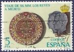 Sellos de Europa - España -  Edifil 2493 Viaje de los Reyes a México 5