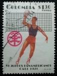 Stamps America - Colombia -  VI juegos Panamericanos de Cali. Voleyball.