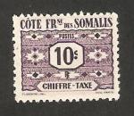 Stamps : Africa : Djibouti :  costa de somalis - sello tasa