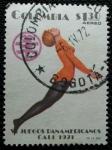 Stamps Colombia -  VI juegos Panamericanos de Cali. Gimnasia.