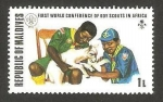 Stamps : Asia : Maldives :  1ª conferencia mundial de boy scouts en África