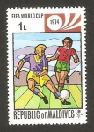 Stamps : Asia : Maldives :  496 - Mundial de fútbol Munich 74