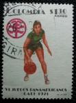 Stamps Colombia -  VI juegos Panamericanos de Cali. Baloncesto.
