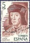 Stamps Spain -  Edifil 2512 Jorge Manrique 5