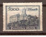 Stamps Germany -  CASTILLO  DE  WARTBURGO
