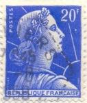Sellos de Europa - Francia -  Republique française azul