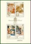 Stamps Spain -  ESPAÑA 1990 3090 HB Sellos Nuevos Patrimonio Artístico Nacional Tapices Cristo de la Misericordia, S