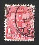 Stamps Australia -  nueva gales del sur - escudo de armas de victoria