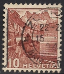 Stamps Switzerland -  CASTILLO CHILLON.