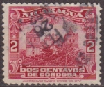 Stamps Nicaragua -  Nicaragua 1914 Scott 351 Sello Catedral de Leon usado 2c