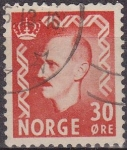Sellos de Europa - Noruega -  NORUEGA 1950 Scott 310 Sello º Rey King Haakon VII usado Michel 361 Norway Norvège Norge