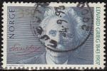 Stamps Norway -  NORUEGA 1993 Scott 1038 Sello Personajes Edvard Grieg usado Norway Norvège Norge