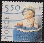 Stamps Norway -  NORUEGA 2001 Scott 1305 Sello Serie Artesania Manual Textil Michel 1388 usado Norway Norvège Norge