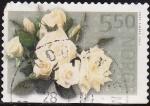 Stamps Norway -  NORUEGA 2003 Scott 1353 Sello Flora Flores Rosas Blancas usado Norway Norvège Norge