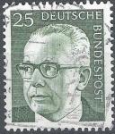 Stamps Germany -  basica Gustav Heinemann
