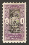 Stamps Africa - Togo -  dahomey - ocupación franco inglesa - trepando un árbol