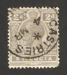 Stamps America - Saint Lucia -  george V