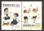 Stamps Asia - Taiwan -  niños jugando
