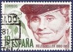 Stamps Spain -  Edifil 2574 Centenario de Helen Keller 19
