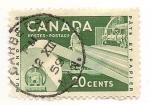 Sellos de America - Canadá -  Industria del papel