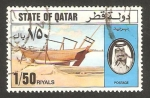 Sellos del Mundo : Asia : Qatar : barco árabe